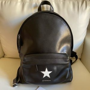 Givenchy black with star backpack